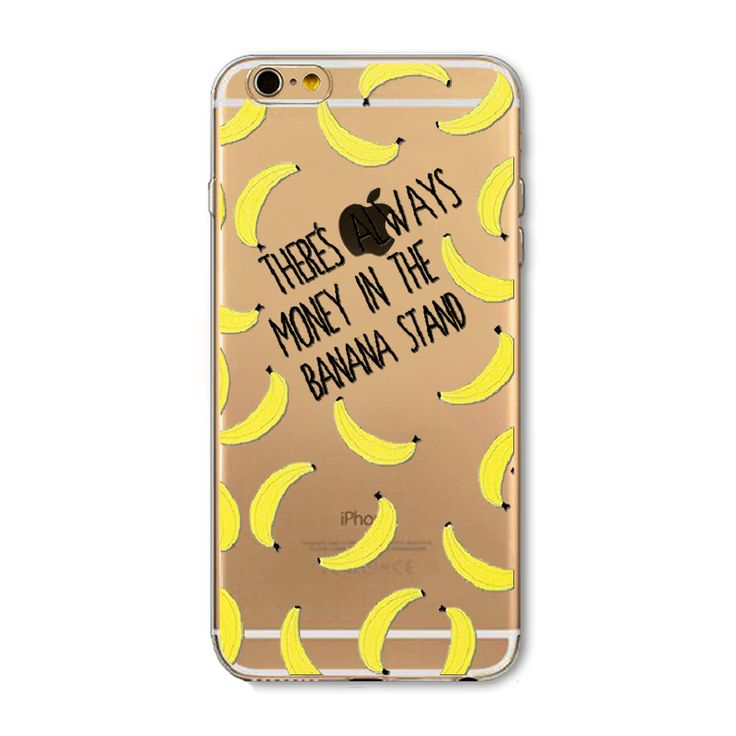 Fruit Pineapple Lemon Banana Fashion Soft Silicon Transparent Thin Case Cover For Apple iPhone 4 4S 5 5S 5C 6 ...