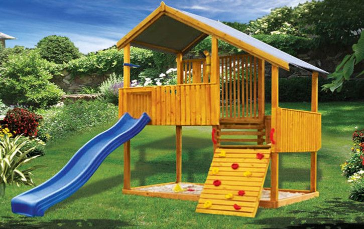 Mountain Fort from PlayCubb Australia offers wooden kids cubby houses, forts, toys and swing sets for playing outside in your backyard - cubby kits for sale online.