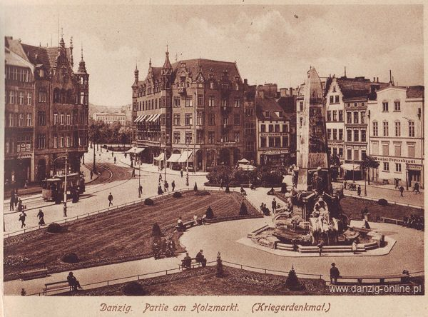 Danzig - Partie am Holzmarkt (Kriegerdenkmal)).