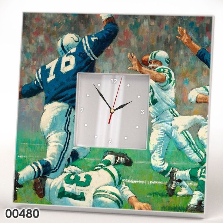 American Football Wall Clock Mirror Frame Picture NFL Collectible Fan Gift Watch #IKEA