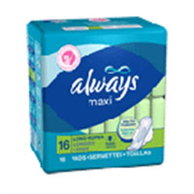 Buy Always Maxi Pads Long Super with Flexi-Wings - 16 pads | Always Maxi Pads, Long Super has dri-Weave is made up of cone-shaped holes that quickly pull fluid into the absorbent LeakGuard Core. myotcstore.com - Ezy Shopping, Low Prices & Fast Shipping.