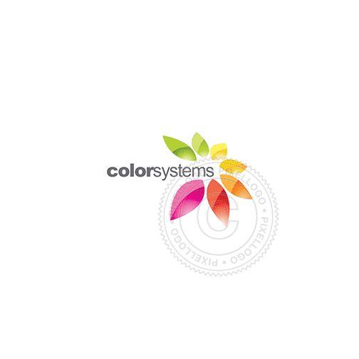 Color leaves - 4 seasons Logo - pixellogo