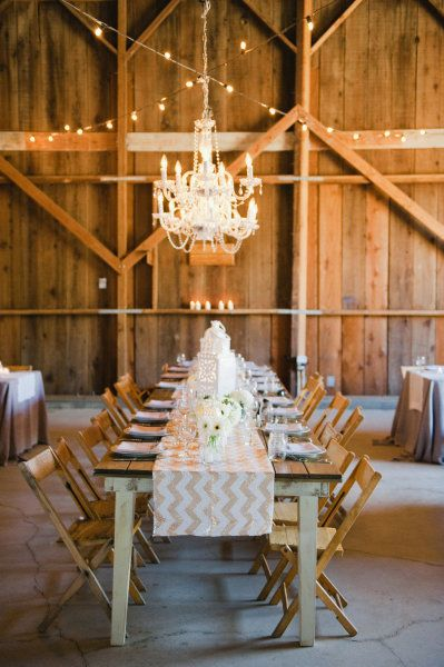 barn meets sequined chevron. perfect.