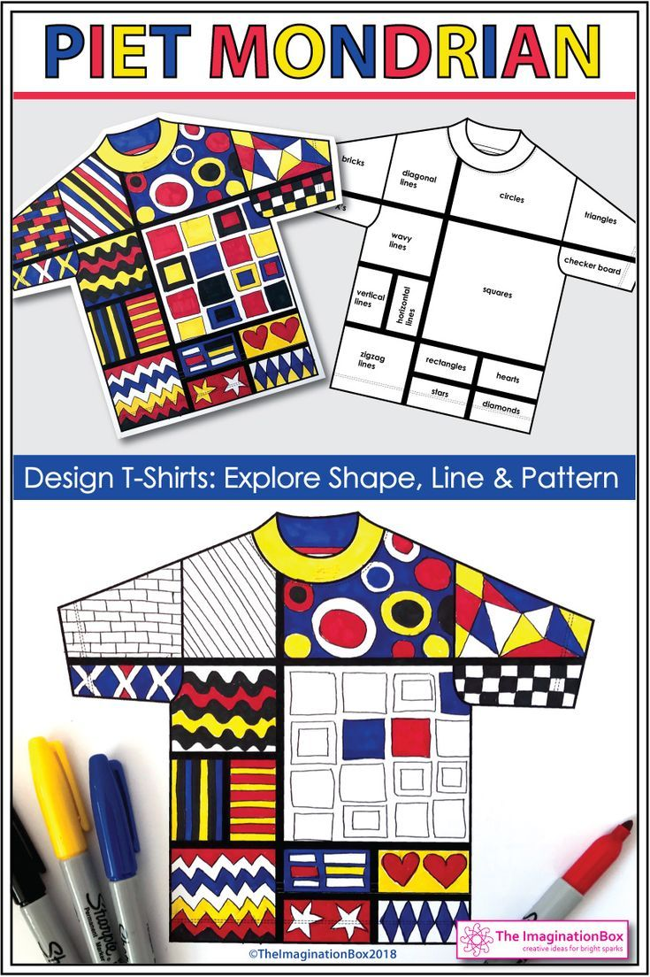 Mondrian Art Activity - Explore Shape and Line | Mondrian ...