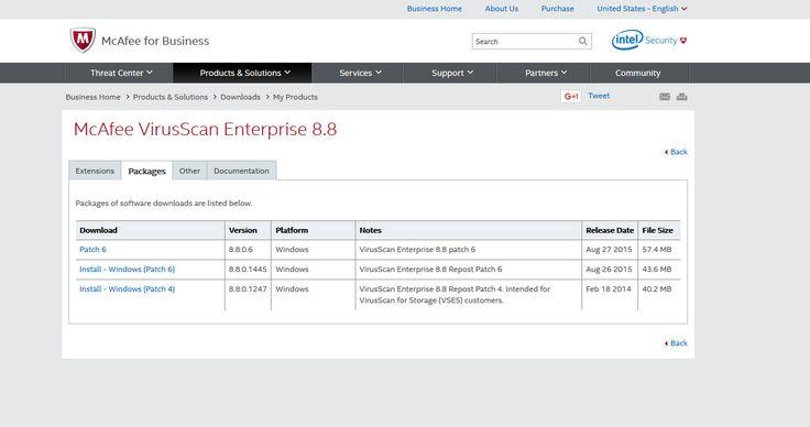 Patch5 for mcafee virusscan enterprise