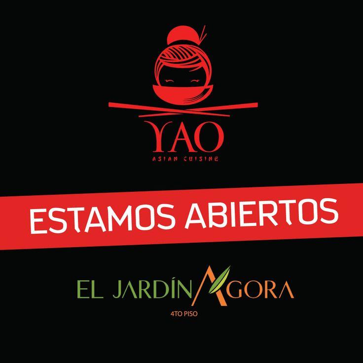 ¡Ya estamos abiertos en El Jardín Ágora Mall! #VenParaYAO