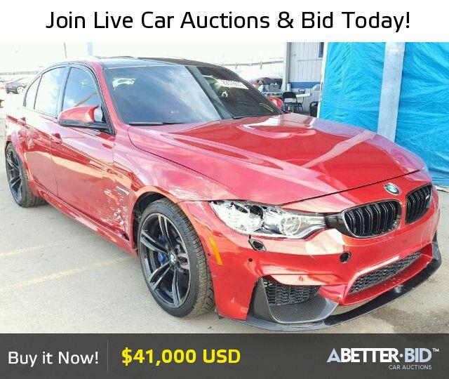Salvage  2016 BMW M3 for Sale - WBS8M9C50G5E68578 - https://abetter.bid/en/22076657-2016-bmw-m3