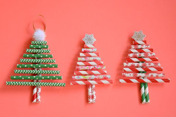 Après le calendrier de l'Avent, voici un autre diy de Noël simple et coloré, il s'agit de petits sapins fabriqués avec des pailles en...