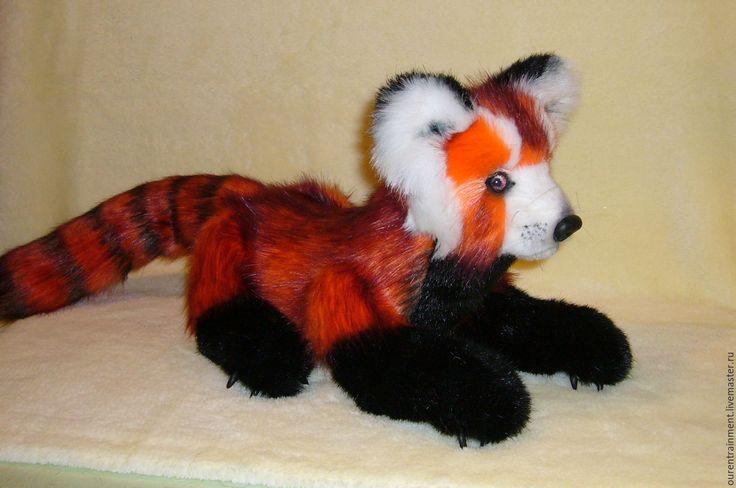 Купить Малая красная панда Пуна - рыжий, панда, красная панда, лиса, енот, тедди