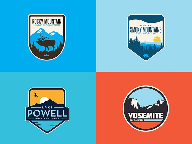 Some designs I worked up for half-marathon races happening inside national parks across the U.S.