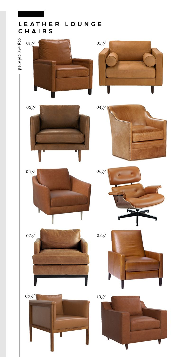 Roundup Leather Lounge Chairs Room For Tuesday Leather Chair Living Room Living Room Leather Leather Lounge