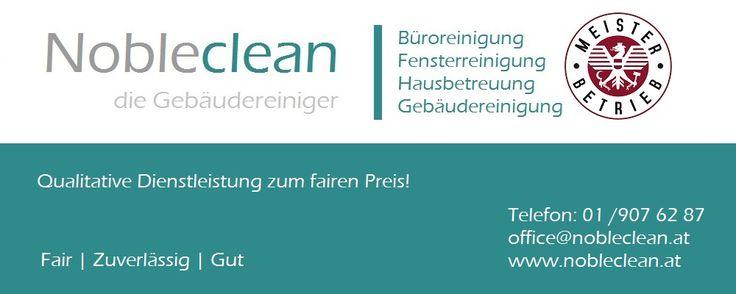 Nobleclean die Gebäudereinigung steht für qualitative Reinigung in Wien.  Willkommen bei der Wiener Reinigungsfirma Nobleclean. Das Reinigungsunternehmen ist mit seinem Reinigungsservice in ganz Österreich tätig. Wobei wir hauptsächlich die Hauptstadt und Umgebung mit unserer Büroreinigung und Hausbetreuung verwöhnen.