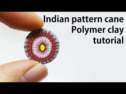 꽃 패턴 만들기/ How to Make Indian Patterns with Clay - YouTube