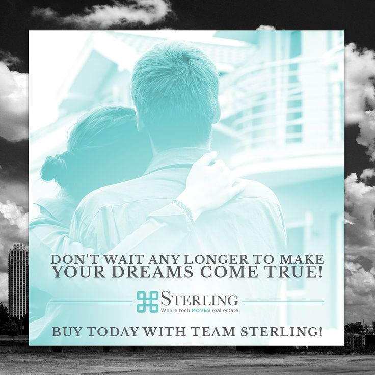 It's 2018 and that means it's time to push your fears aside and accomplish the home owning goal you've been setting for years! Today is the day and Team Sterling can help you not only accomplish that goal but walk away feeling confident and knowledgeable in the market.