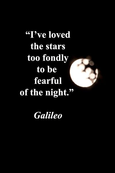 """I've loved the stars too fondly to be fearful of the night."" -- Galileo – Princeton, New Jersey moon by Florence McGinn – Enjoy evocative quotes joined with original photography in a slideshow at http://www.examiner.com/slideshow/wanderlust-quotes"
