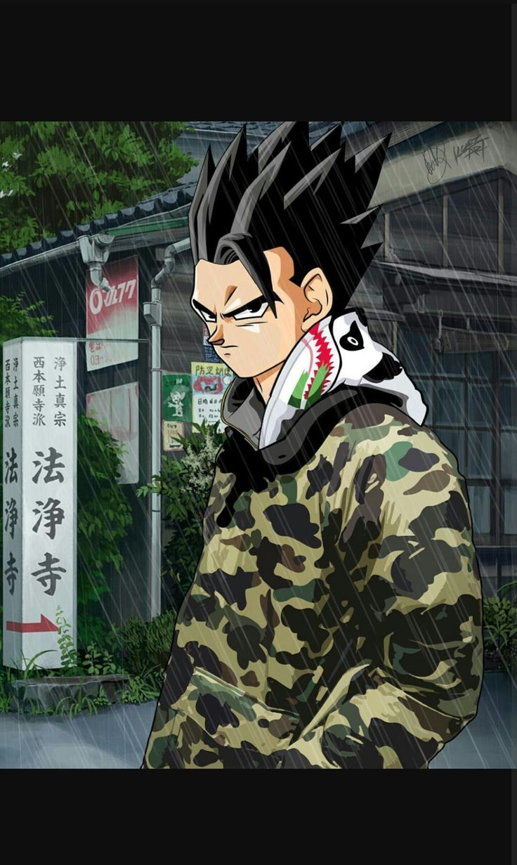 GOHAN BAPE SUPREME Dragon Ball Z Pixel art sangoku