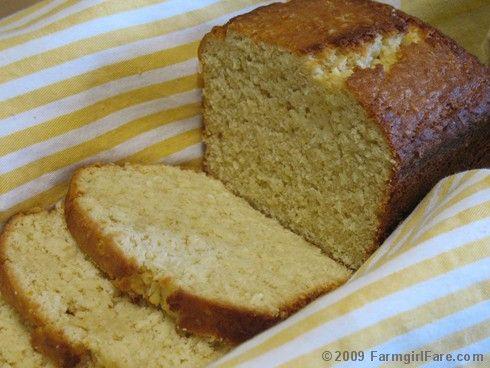 Lemon coconut quick bread