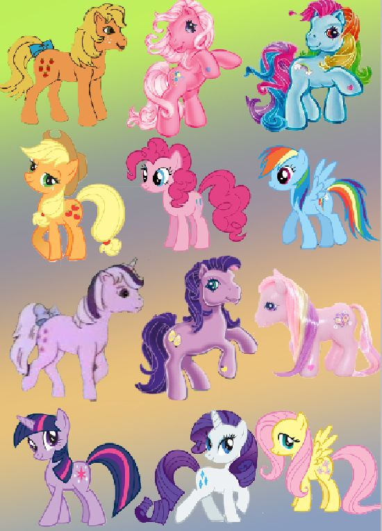 old and new My Little Pony