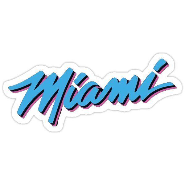 Miami Heat Vicewave Sticker By Anaarias0425 In 2021 Miami Heat Logo Miami Logo Miami Heat