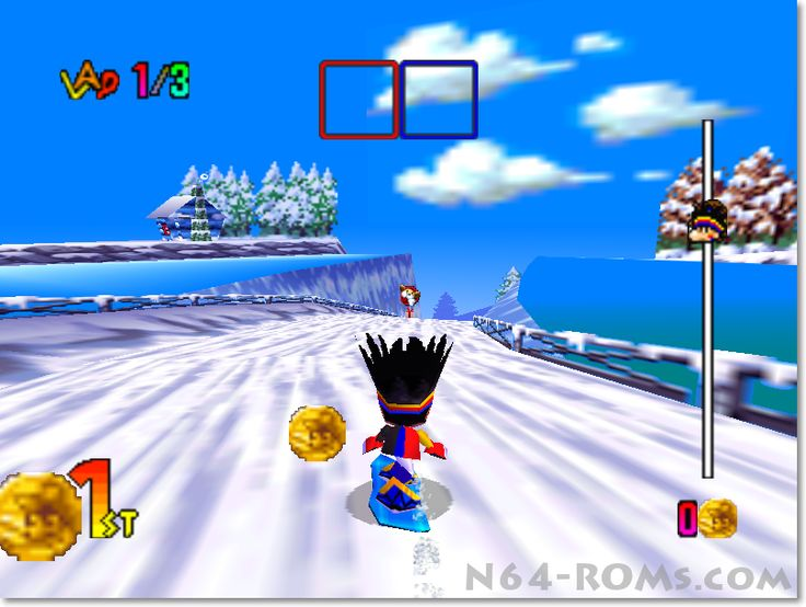 Snowboard Kids 2 – Race with your board on the snow http://www.n64-roms.com/snowboard-kids-2-race-with-your-board-on-the-snow/