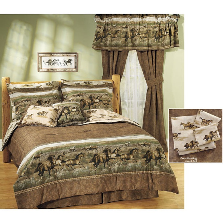 Wild Horse Comforter Set - Horse Themed Gifts, Clothing, Jewelry & Accessories all for Horse Lovers