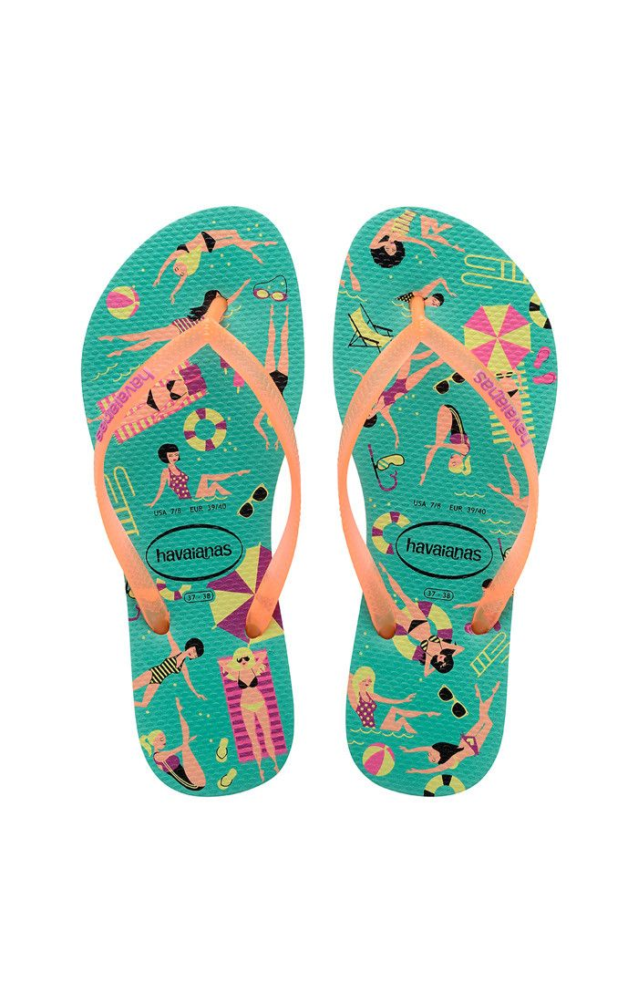 096d4598c90aec Havaianas Slim Cool Sandal Mint Green Orange Cyber Price From  23