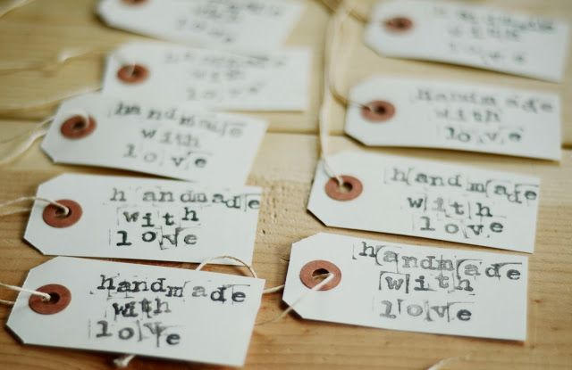 Stamped tags.