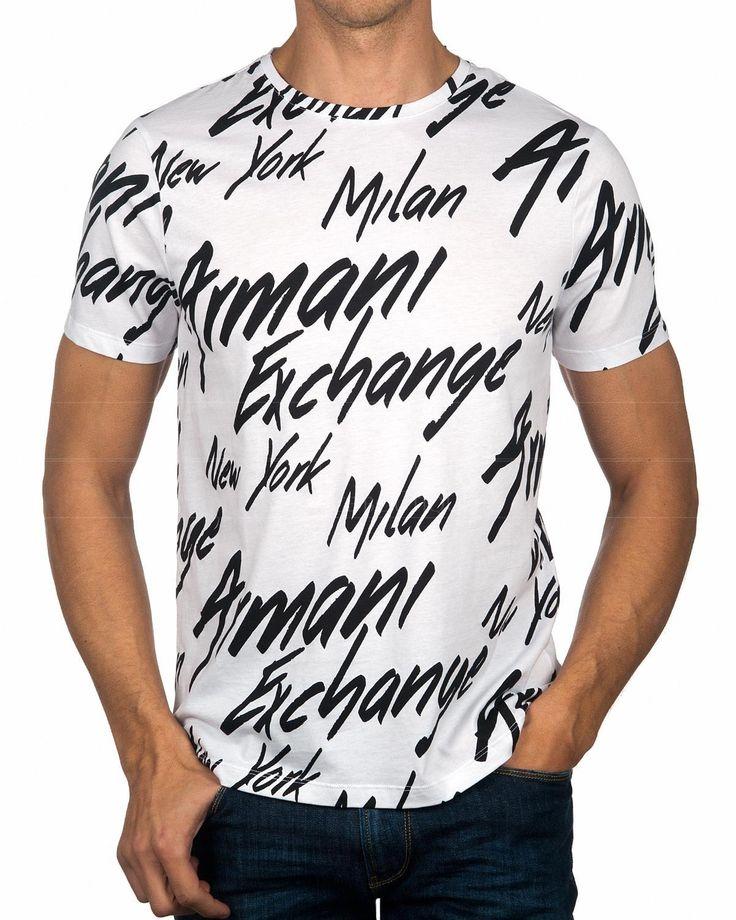 White ARMANI EXCHANGE © T-Shirt ✶ City | BEST PRICE