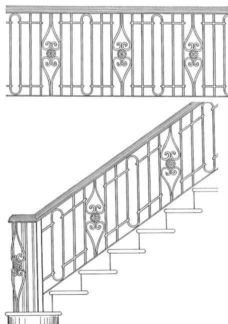 Stair Railing Designs ISR202   stairs   Pinterest ...