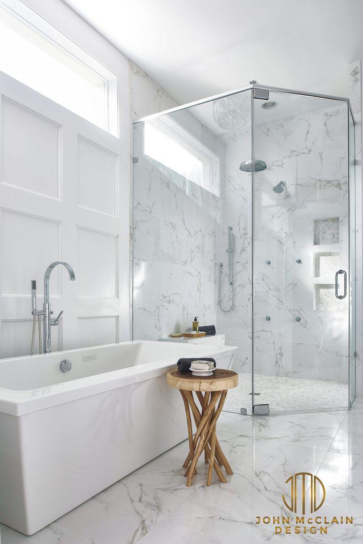 Elegant Look Carrara Marble Bathroom Bianco Marble Carrara