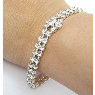 Aye Do Ltd - B419. Clear Tiffany Bracelet (ljd), £41.99 (http://www.ayedoweddings.co.uk/b419-clear-tiffany-bracelet-ljd/)