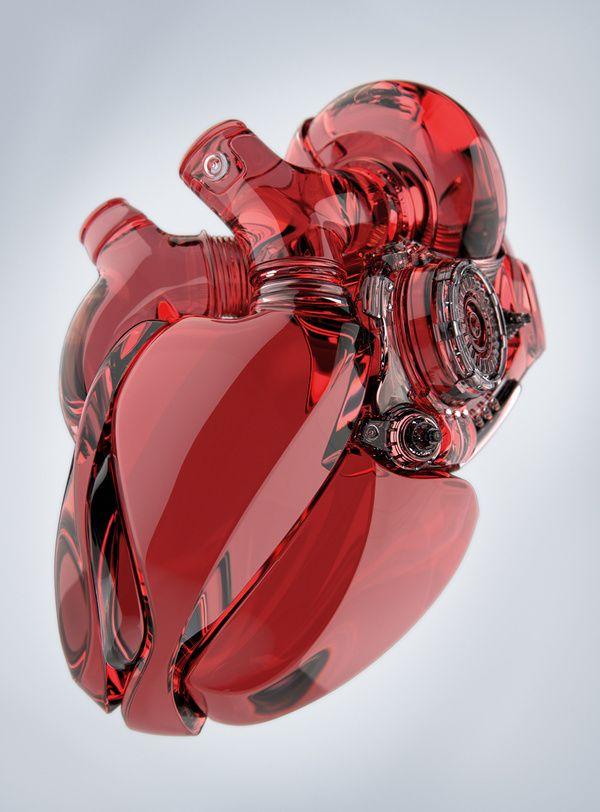 Um trabalho de sci-fi bem bacana do artista conceitual ucraniano Aleksandr Kuskov, mostrando uma mão biônica segurando um coração eletro-mecânico. O resultado ficou bem bacana e até tem uns estudos…