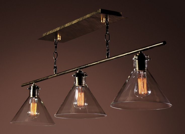 Amerie Pool Table Light with Edison Bulbs
