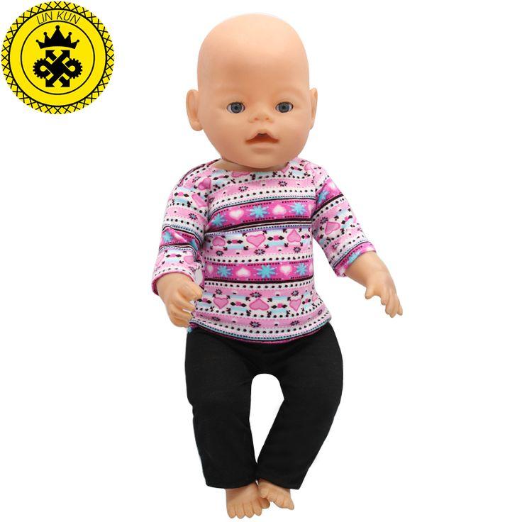 紫色のセーター+黒パンツスーツドレスフィット43センチ赤ちゃん生まれツァップ人形服と17インチ人形アクセサリー手作り188