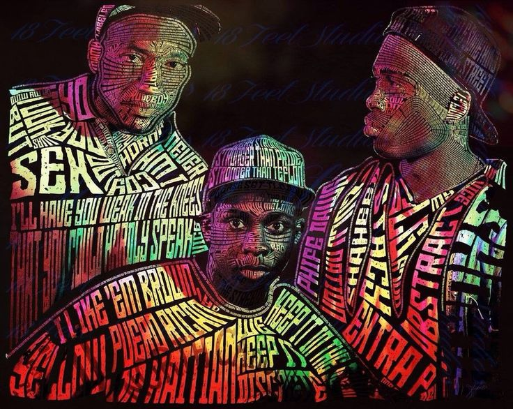 A Tribe Called Quest Typography Portriat by lilysmom85.deviantart.com on @DeviantArt