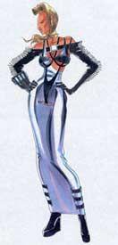 1993 - Jean Paul Gaultier sketch - dress for Victoria Abril in 'Kika' A Pedro Almodovar movie
