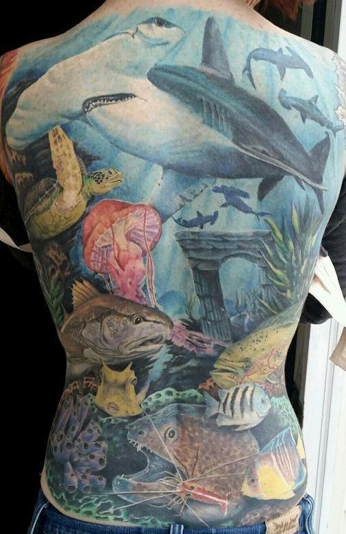 Hey Hammerhead. Tattoo by Johnny Wilder. #inked #inkedmag ...