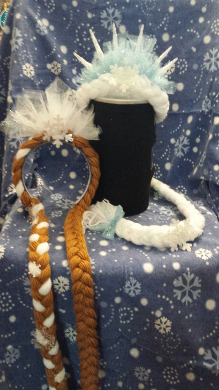 Frozen Queen Elsa Hair with Icicles and by PlayfulYarnHair on Etsy