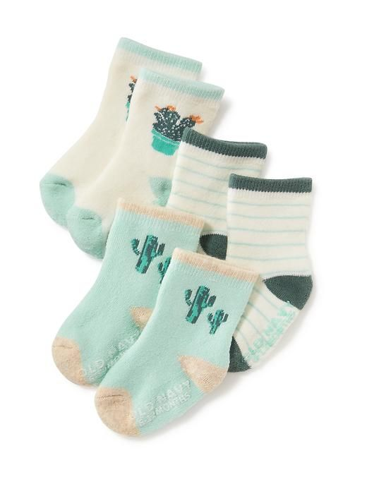 Non-Skid Printed Socks 4-Pack for Baby
