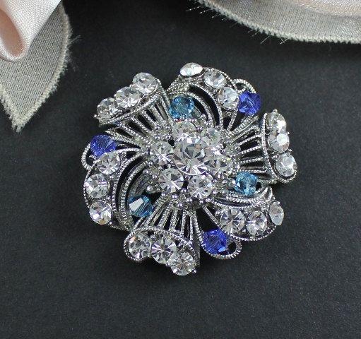 Bridal Brooch Swarovski Wedding Dress Brooch by JamJewels1 on Etsy, $41.00