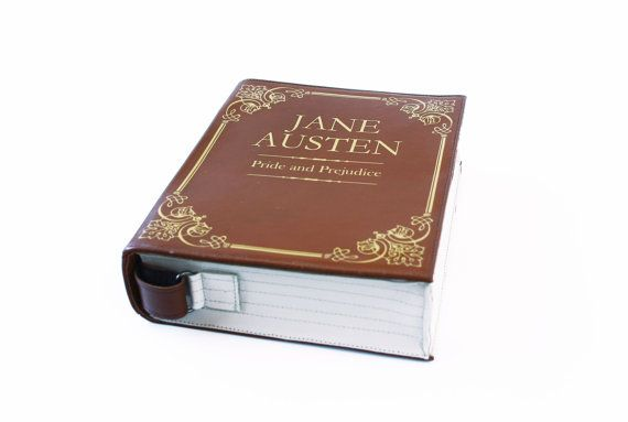 Jane Austen lederen boek tas Pride and Prejudice door krukrustudio