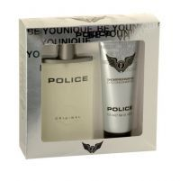 Police Original 100ml Eau De Toilette And 125ml Shower Gel Gift Set It has notes of bergamot, grapefruit, juniper, lavender, rosemary, peppermint, jasmine, geranium, violet, clary sage, sandalwood, cedar, moss, musk and tonka bean.