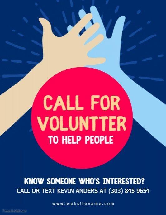 Volunteer Flyer PosterMyWall Poster, Design