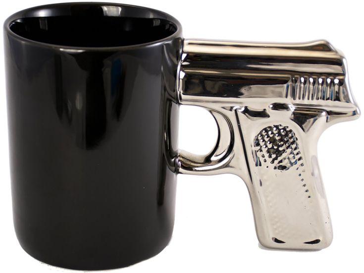 Pistol Grip Coffee Mug - Made of Premium Ceramic - Dishwasher and Microwave Safe - Gun Lover's Gift