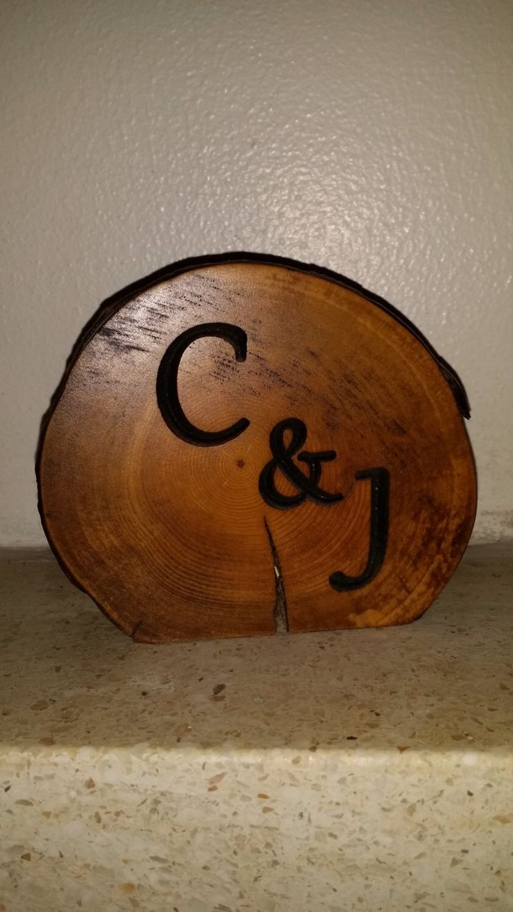 Rustic Log Centerpiece carved with lettering of your choice by JarednCece on Etsy https://www.etsy.com/listing/208919208/rustic-log-centerpiece-carved-with