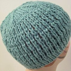 This easy knit hat pattern is the perfect way to use up some extra yarn. Make this comfy Slip-Stitch Mesh Hat with less than one skein.