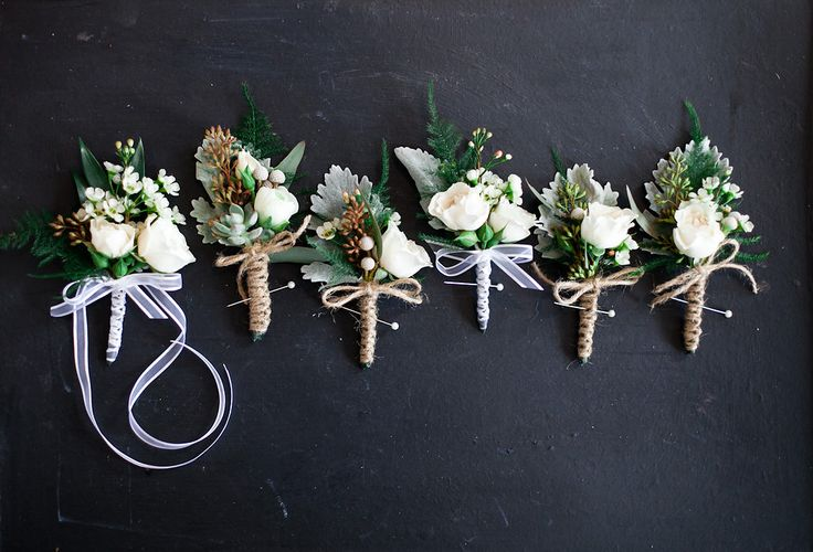 Lovely & hopeful of Spring - corsages & boutonnières for a February Cambridge Mill Wedding. All white flowers never tire us - so beautiful & classic !