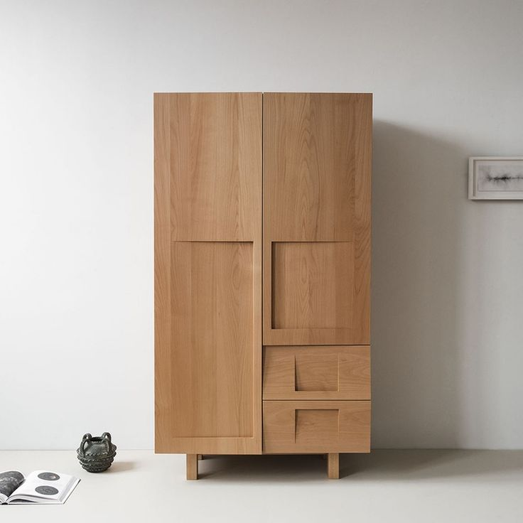Wood Wardrobe - Contemporary Rustic / Folk Transitional Armoires - Dering Hall