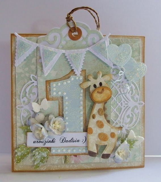 Scrap Passion: Birthday card with giraffe