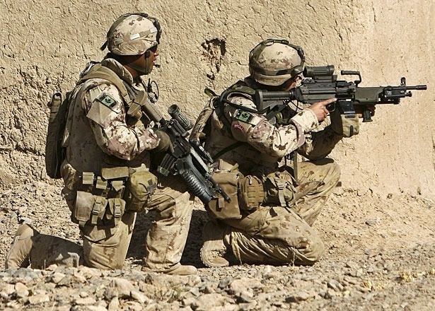 "Canadian soldiers in afghanistan. ""Real heroes wear camo."""